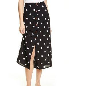 NWT Free People Retro Love Midi Skirt